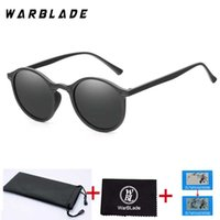 Wholesale outdoor sport night vision sunglasses resale online - WarBLade New Women Polarized Sunglasses men Round Mirror Black Frame Outdoor Sports Glasses Unisex Driving Night Vision Goggles