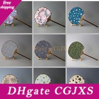 Wholesale dancing paintings resale online - Hand Fan With Round Paper Traditional Paint Fan Ladies Wedding Party Gift Crafts Dancing Props Za4501