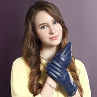 Wholesale women leather gloves sheepskin resale online - 2020 Genuine Leather Women Gloves Female Spring Autumn Unlined Breathable Holes Thin Style Fashion Sheepskin Gloves