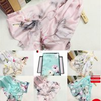Wholesale hand painted scarves resale online - juOGP towel scarf women gradient hand painted summer outdoor embroidery Chinese style sunscreen shawl scarf beach new simulation flowers silk