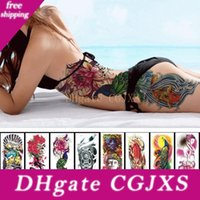 Wholesale tatoo fishing resale online - 1pc New cm Full Flower Arm Tattoo Sticker models Fish Peacock Lotus Temporary Body Paint Water Transfer Fake Tatoo Sleeve