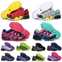 Wholesale football shoes quality resale online - new hot Top Quality Zapatillas speedcross running shoes men women red black walking athletic shoes sports shoes mens trainers size eur
