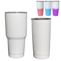 Wholesale oz cars resale online - stainless steel tumbler oz oz blank sublimation car cup double wall vacuum insulated printing coffee cup travel mug with lid DIY gift