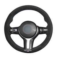 Wholesale sports cars parts for sale - Group buy DIY Black Suede Leather Car Steering Wheel Cover for F87 M2 F80 M3 F82 M4 M5 F12 F13 M6 X5 M F86 X6 M F33 F30 Sport Parts