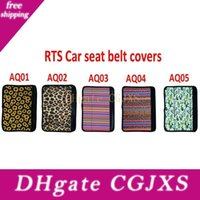 Wholesale wedding pads resale online - Cactus Sunflower Leopard Print Neoprene Car Safety Seat Belt Strap Soft Shoulder Pads Covers For Party Wedding Favors Gift For Guest Lx2058