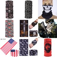 Wholesale multi coloured scarves resale online - Unisex Pure Colour Headwear Motorcycle Half Face Mask Head Scarf Ultraviolet Proof Neck Gaiter Balaclava Shield Mask Er