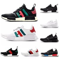 Wholesale pink color men shoes for sale - Group buy Red Marble NMD R1 Running Shoes Military Green Oreo atmos Bred Tri Color OG Classic Men Women Thunder Sports Trainer Sneakers