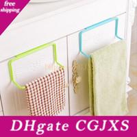 Wholesale towels rails resale online - Over Door Tea Towel Rack Bar Hanging Holder Rail Organizer Bathroom Kitchen Cabinet Cupboard Hanger Shelf Hh H06