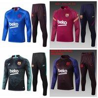Wholesale Survetement Barcelona Tracksuit Half zipper Jacket Soccer Training Suit PRE MATCH Football Suits Pants