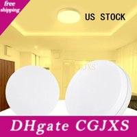 Wholesale round spotlights resale online - Us Stock w w w w Round Led Ceiling Lamp Daylight Lamp Spotlight Surface Lamp Warm White Us