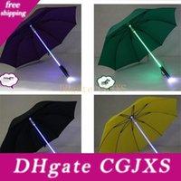 Wholesale raining led lights resale online - Led Umbrella Light Rain Originality Flash Safety Night Protection Luminescent Manual Colourful Acrylic Plastic Rod High Quality xm V