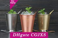 Wholesale curl bar for sale - Group buy Mint Julep Mug Stainless Steel Curling Julep Cup Mojito Cocktail Cup Multi Function Bar Party Beer Mugs