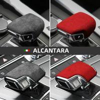 Wholesale car accessories gear resale online - Alcantara Car Gear Shifter Cover Interior Stickers Knob Trim Mouldings Auto Accessories for Audi A4l A5 A6 A7 Q5l Q7