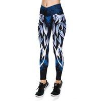 Wholesale wing pants resale online - Hot selling wings digital printing leggings women s high waist yoga LGS31 Tight sports pants sports pants