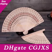 Wholesale free hand held fans for sale - Group buy Chinese Aromatic Wood Pocket Folding Hand Held Fans Elegant Home Decor Party Favors Wen7088
