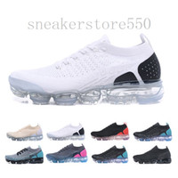 chaussures mouche achat en gros de-Nike fly racer 2.0 1.0 Nike Vapormax flyknit air max 2019 Knit 2.0 Fly 1.0 Chaussures de course Hommes Femmes BHM Orbit Rouge Chaussures Metallic Gold Triple Noir Chaussures Bask