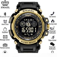 Wholesale round smart watches for android phones for sale – best SMAEL Smart Watch Outdoor Sport Waterproof Pedometers Message Reminder Bluetooth Watches Men Smartwatch for ios Android Phone