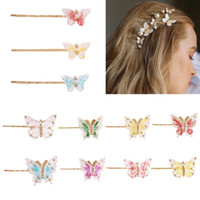 Wholesale bobby pins for sale - Group buy Copper Hairpins For Women Hair Clip Lady Bobby Pins Invisible Wave Hairgrip Barrette Hairclip Butterfly Rhinestone Hair Clip