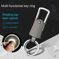 Wholesale small gyro resale online - Fingertip gyro Fingertip gyro with LED lamp rotary lettering small gift key chain metal key chain AWIme