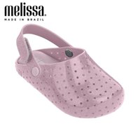 Wholesale leather babouche for sale - Group buy 2020 Mini Melissa Furadinha Babouche Sweet Dreams Girl Jelly Shoes Noctilucent Sandals Baby Shoes Melissa Sandals Kids Princess