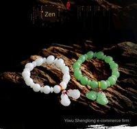 Wholesale jade buddha gifts for sale - Group buy Imitation jade bracelet white jade bracelet hanging and hanging Guanyin Buddha gift yq5p