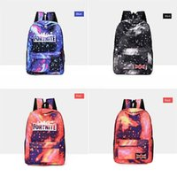 Wholesale children bear backpack resale online - New Fashion Bear Cartoon Small Children Fortnite Starry Sky Fortress Night Backpack Baby Fortnite Starry Sky Fortress Night Backpacks Min