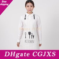 Wholesale white cook aprons resale online - Sanitary Women Men Apron Restaurant Home Bib Cotton Kitchen Aprons White Avental Adult Work Party Bbq Apron Cooking Cleaning