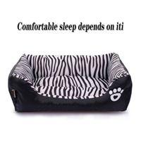 Wholesale pet plush dog houses resale online - Autumn Winter Pet warm pad Dog Mat Pet sofa Bed plush nest Warm Cat house Pattern Zebra S Cat Dog Accessories Dropshipping