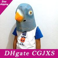 Wholesale new men latex masks for sale - Group buy 2017 New Lifelike Pigeon Head Full Face Mask Halloween Gifts Eco Friendly Nature Latex Funny Mask For Cosplay Party Dress Up