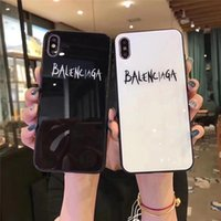 Wholesale cell phone glasses case for sale - Group buy Tempered Glass Mirror Cell Phone Case For iPhone pro Max X XS XR XSMAX NEW fashion Cover For iPhone S Plus