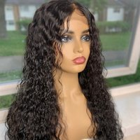 Wholesale ladies hairstyles for sale - Group buy Water Wavy Silk Base Wigs Glueless Silk Top Lace Front Wig Lace Frontal Human Hair Wig Water Wave With Baby Hair