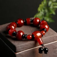 Wholesale tibetan agate beads for sale - Group buy Natural Tibetan old Buddha Pearl Bracelet agate single circle men s Buddha beads National style agate bracelet gift men s jewelry