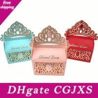 Wholesale paper princess crowns for sale - Group buy Princess Crown Wedding Candy Boxes Chocolate Gift Boxes Romantic Paper Candy Bag Box Wedding Candy Boxes Favor