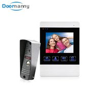 Wholesale video intercoms for homes for sale - Group buy Doornanny Doorbell Video Intercom For Home Apartment Video Eye With Night Vision Function Bell Door Camera Monitoring Set