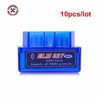 Wholesale 10pcs Bluetooth ELM327 Scanner V2 ELM327 OBD2 Code Reader Support OBDII Protocols OBD Car Diagnostic Scan Tool m2eJ