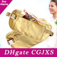 Wholesale waist holder resale online - Sports Waist Packs Outdoor Travel Security Money Ticket Passport Storage Bag Holder Waist Bag With Belt Bh0773 Tqq