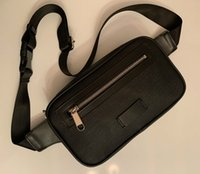 Wholesale fanny pouch for sale - Group buy 2019 NEW Men leather bags Unisex Men Women leather Sport Runner Fanny Pack Belly Waist Bum Bag Fitness Running Belt Jogging Pouch Back grid