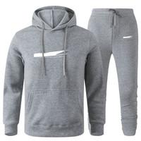 Men Designer Hoodies Pants Set Hooded Tracksuit Mens Sweat Suits Patchwork Black Solid Color 2020 Autumn Winter 2pcs Hoodies Sportsuit 3XL