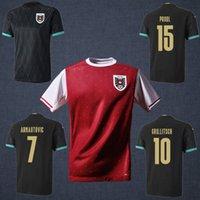 Wholesale soccer teams resale online - 2020 Austria soccer jersey camisetas soccer Shirt Arnautovic National Team Football Alaba Grillitsch Sabitzer Uniforms