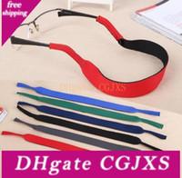 Wholesale eyeglasses chains cords for sale - Group buy 6 Colors Glasses Neoprene Neck Strap Retainer Cord Chain Lanyard String For Sunglasses Eyeglasses Sn436