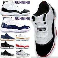 Wholesale black legend blue 11s resale online - 2020 black cat s basketball shoes low white bred s men sneakers cool grey gamma legend blue black cement UNC s concord space jam