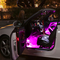 Wholesale car foot led for sale - Group buy Automobile interior ambient lamp refitted with LED foot sole USB car interior trim sound control lamp