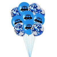 Wholesale car birthday party resale online - 10Pcs Red yellow blue Happy Birthday Party Decoration Car Theme Confetti Balloon Baby Shower Supplies