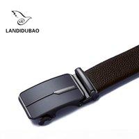 Wholesale alligator belt buckles resale online - 2017 Good Quality Genuine Leather Belts For Men Alligator Pattern Automatic Buckle Mens Belt Male New Strap