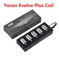 Wholesale original torch resale online - 100 Original Yocan Evolve Plus Coil Evolve Plus Torch Cerum Replacement Coils Head QTC QDC Quatz Dual Coil Ceramic Donut Coils DHL Free