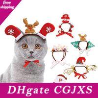 Wholesale cat headgear for sale - Group buy Christmas Halloween Pet Headband Cat Dog Decor Santa Elk Headgear Pet Dog Cats Headdresses Headwear Hats Dog Cosplay Headgear Bh230 Tqq