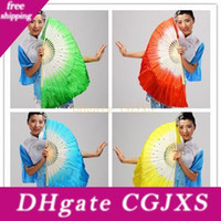 Wholesale chinese fan dance props resale online - Chinese Silk Dance Fan Handmade Fans Belly Dancing Props Colors