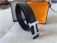 Wholesale gold h buckle resale online - fashion belts business casual H belt high quality mens belts womens belts Width cm Automatic buckle leather belt belt for man