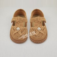 Wholesale hand crocheted baby shoes for sale - Group buy Yi an life hall hand woven crochet hollow line sandals material bag baby Sandals children s children s shoes toddler shoes soft sole
