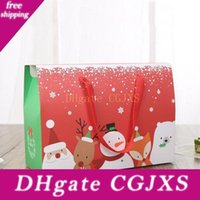Wholesale friends paper for sale - Group buy Creative Christmas Style Portable Handle Kraft Paper Box Sugar Chocolate Party Gift Package For Friends Za4217